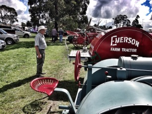 Rob admiring the old tractors